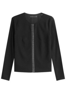 Alexander Wang Crepe Top with Piercing Hardware