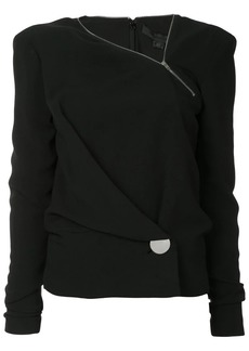 Alexander Wang crepe wrap top