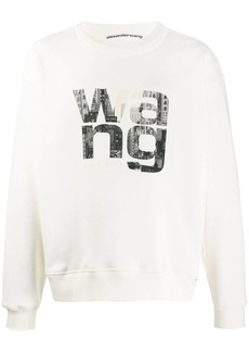 Alexander Wang crew neck printed logo sweater