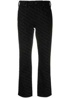 Alexander Wang cropped logo-print trousers