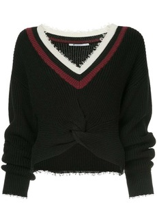 Alexander Wang cropped long-sleeve sweater
