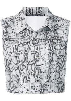 Alexander Wang cropped python vest