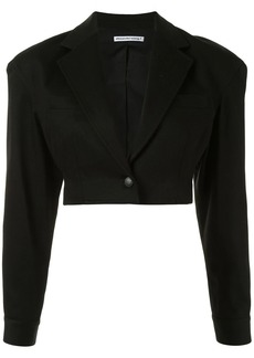 T by Alexander Wang cropped single-breasted blazer