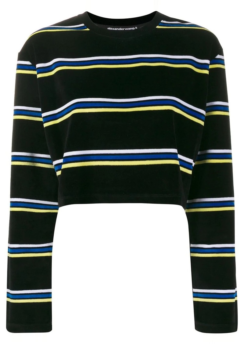 Alexander Wang cropped striped jumper