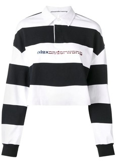 Alexander Wang cropped striped polo shirt