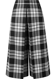 Alexander Wang Cropped Tartan Wool Wide-leg Pants