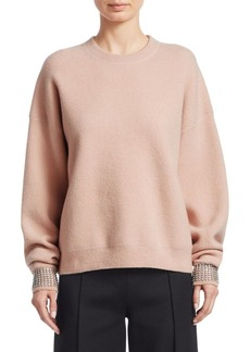 Alexander Wang Crystal Cuff Sweater