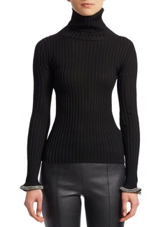 Alexander Wang Crystal Cuff Turtleneck