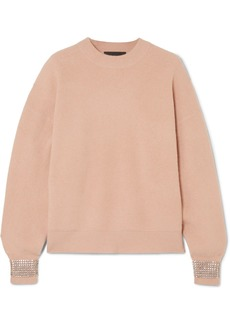 Alexander Wang Crystal-embellished Wool-blend Sweater
