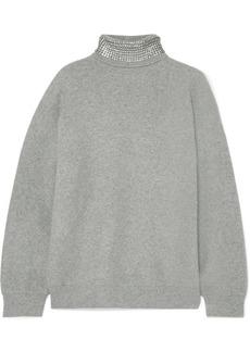 Alexander Wang Crystal-embellished Wool-blend Turtleneck Sweater