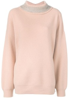 Alexander Wang crystal roll neck jumper