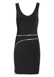 Alexander Wang Curved Zip Detail Black Dress
