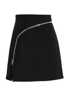 Alexander Wang Curved Zip Detail Mini Skirt