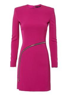 Alexander Wang Curved Zip Detail Pink Dress