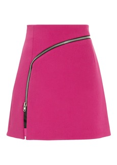 Alexander Wang Curved Zip Detail Pink Mini Skirt