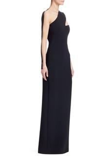 Alexander Wang Cut-Out Sheer-Sleeve Column Dress