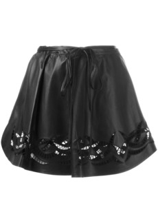 Alexander Wang cut out wrap mini skirt