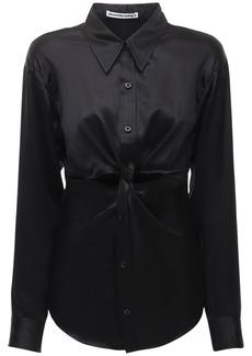 Alexander Wang Cutout Silk Satin Shirt
