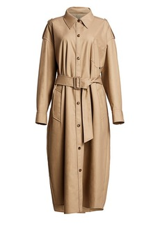 Alexander Wang Deconstructed Cotton Trench Coat