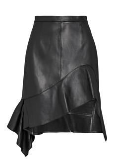 Alexander Wang Deconstructed Leather Ruffle Skirt