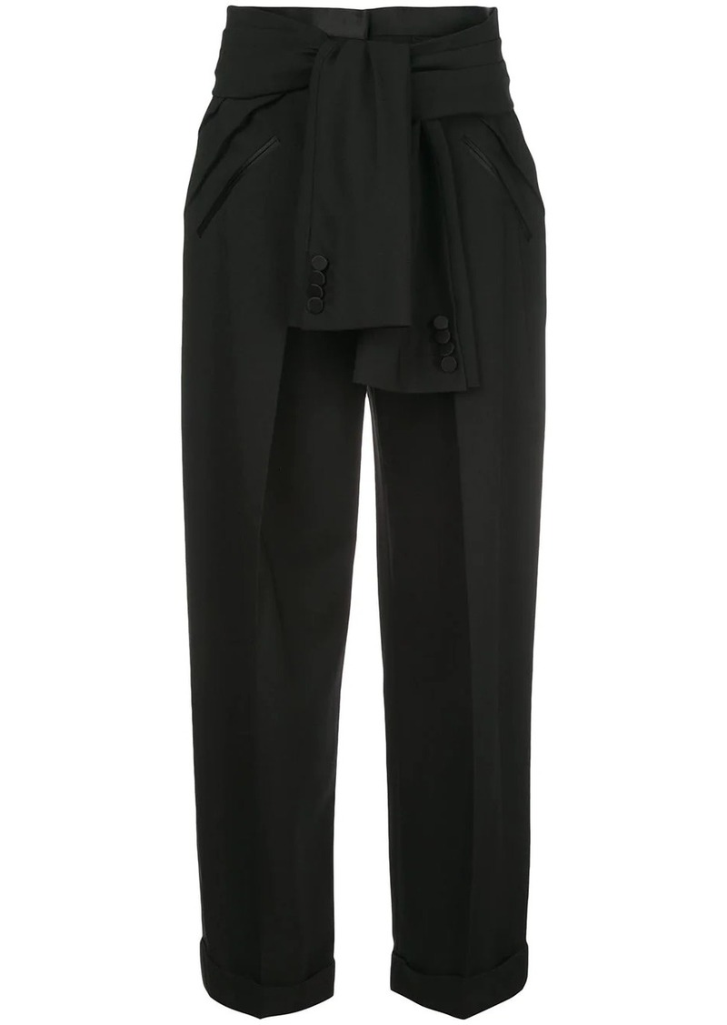 Alexander Wang deconstructed tie-waist tuxedo trousers