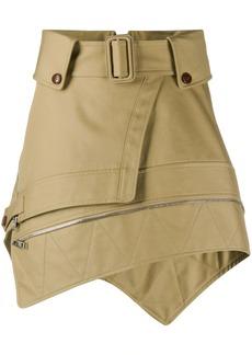 Alexander Wang deconstructed trench skirt