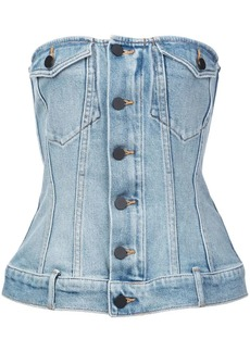 Alexander Wang denim corset top