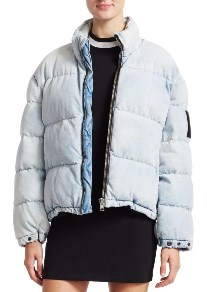 T by Alexander Wang Denim Puffer Jacket