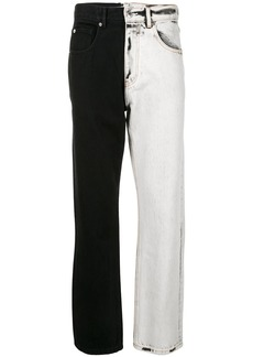 Alexander Wang denim two tone jeans