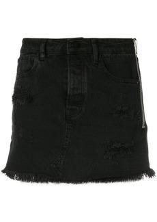 Alexander Wang distressed denim skirt