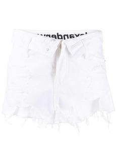Alexander Wang distressed finish denim shorts