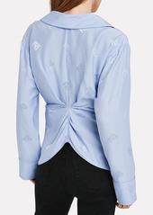 Alexander Wang Draped Jacquard Pajama Shirt