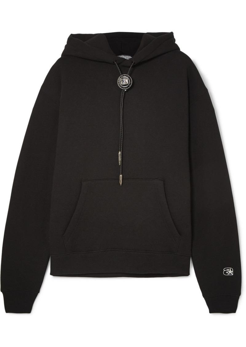 Alexander Wang Embellished Cotton-blend Jersey Hoodie