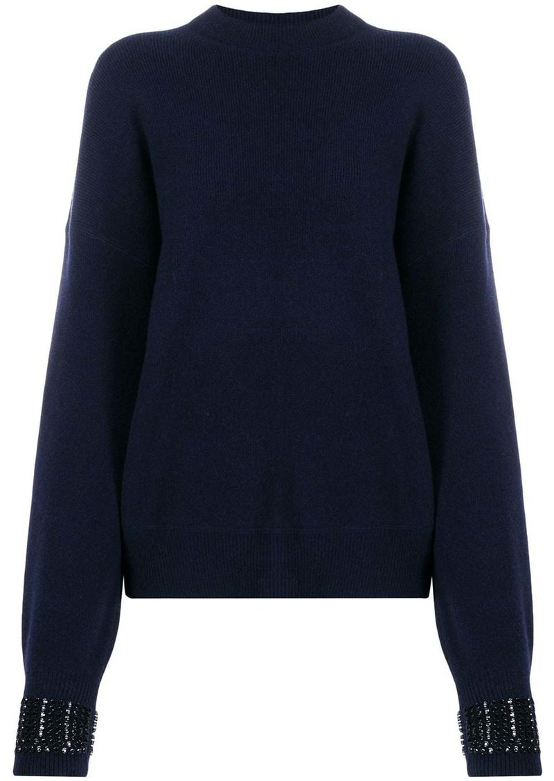 Alexander Wang embellished-cuff sweater
