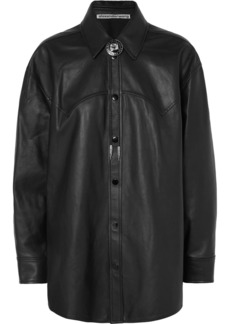 Alexander Wang Embellished Leather Shirt