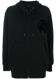 Alexander Wang embossed oversized zip hoodie