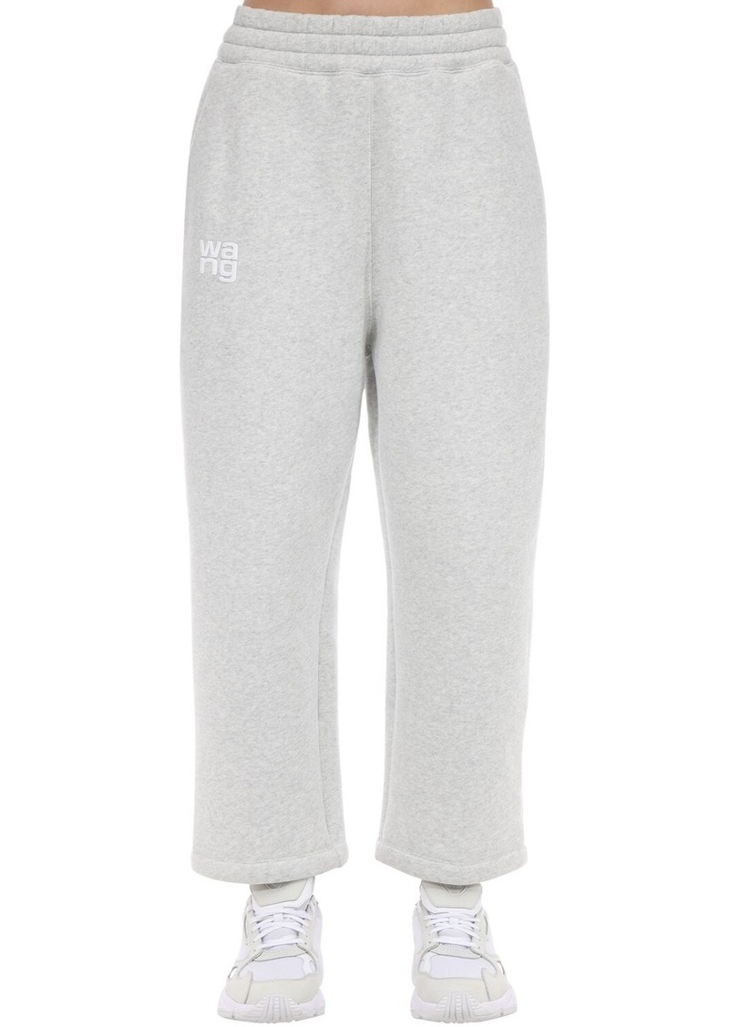Alexander Wang Embroidered Cotton Blend Sweatpants