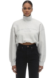 Alexander Wang Embroidered Cotton Sweatshirt