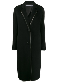 Alexander Wang exposed zip midi coat