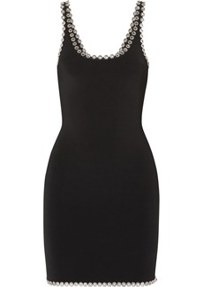 Alexander Wang Eyelet-embellished Stretch-knit Mini Dress