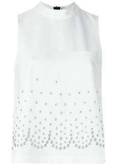 Alexander Wang eyelet embellished top