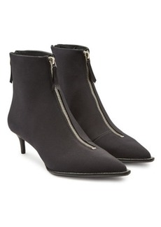 Alexander Wang Fabric Ankle Boots with Rhinestone Trim