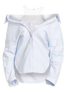 Alexander Wang Falling Button-Down Cotton Shirt