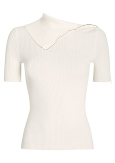 Alexander Wang Featherweight Ribbed Turtleneck Tee