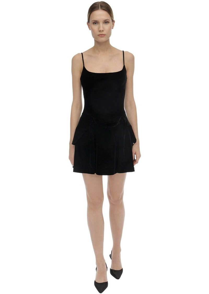Alexander Wang Flared Velvet Mini Dress