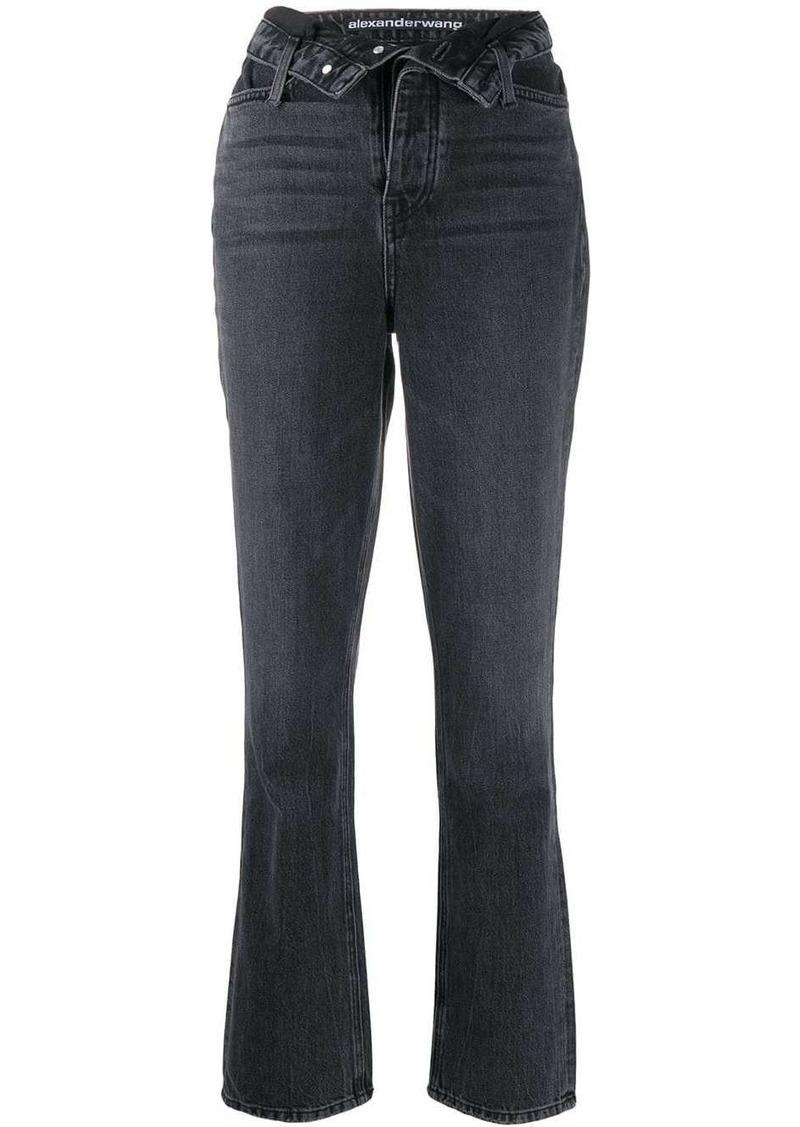 Alexander Wang flip front jeans