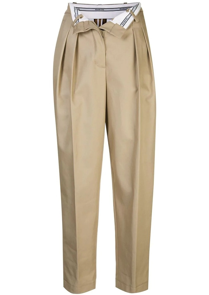 Alexander Wang flipped waistband carrot trousers