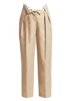 Alexander Wang Flipped Waistband Tapered Trousers