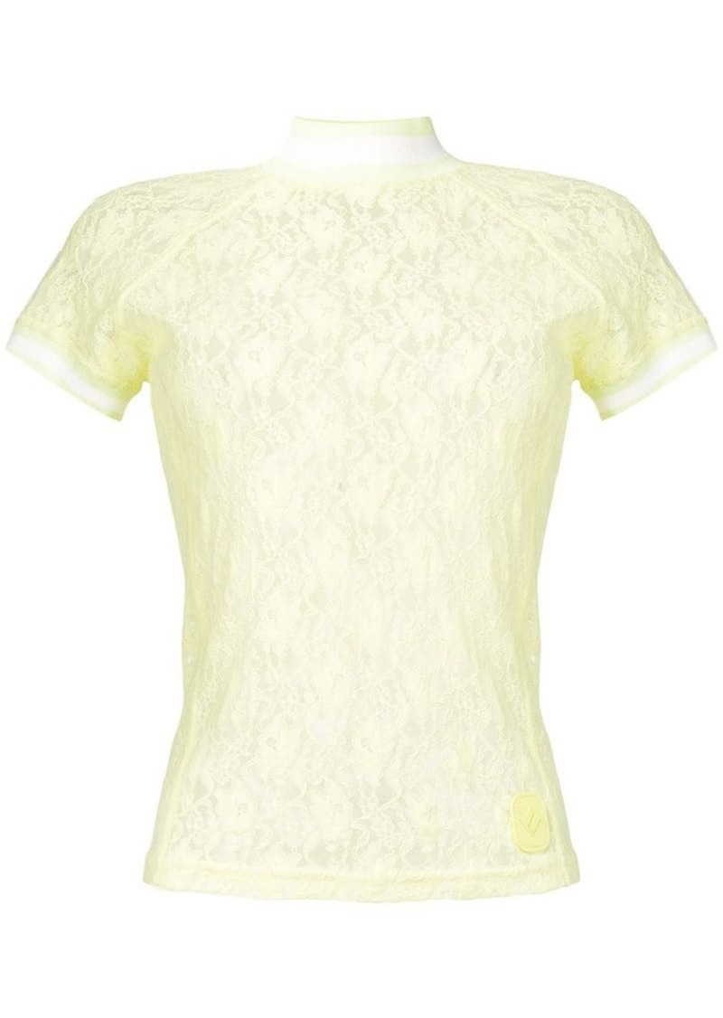 Alexander Wang floral lace top