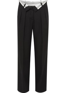Alexander Wang Fold-over Wool Pants